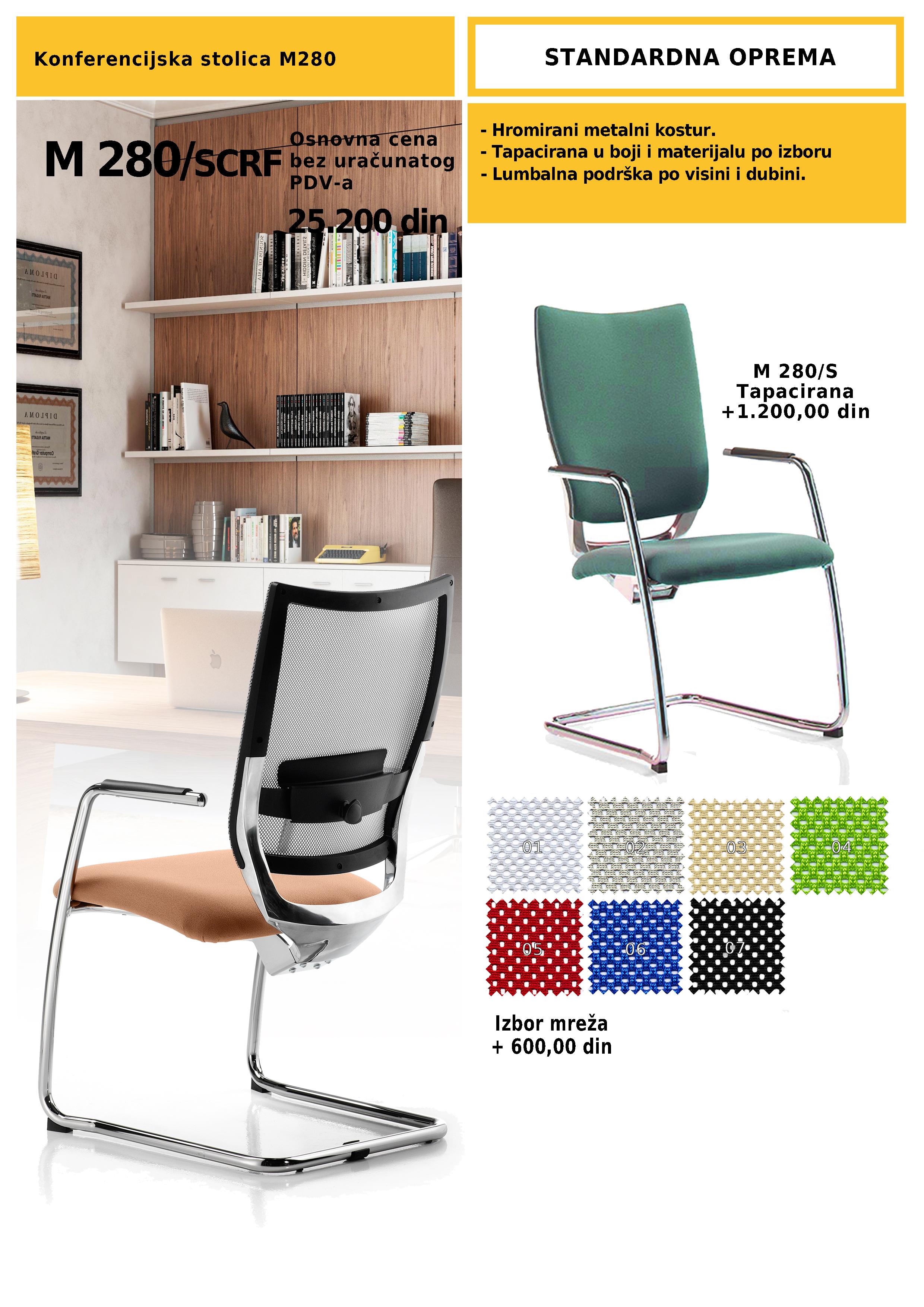 Konferencijska stolica M 280/S
