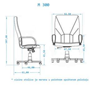 Radne fotelje M300 Modrulj doo