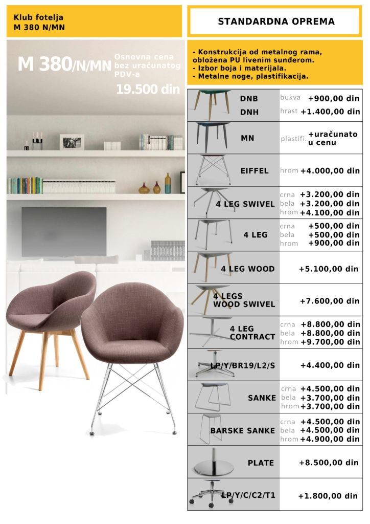 Klub konferencijska fotelja M 380N/OM