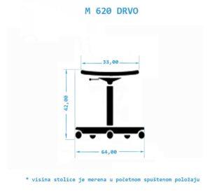 Industrijska radna stolica M620-DRVO