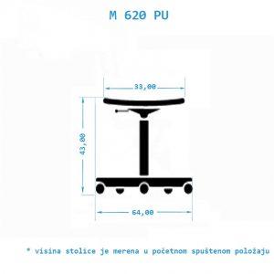 Industrijska radna stolica M620PU