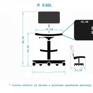 Industrijska radna stolica M630L