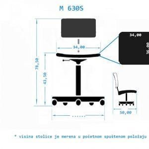 Industrijska radna stolica M630S