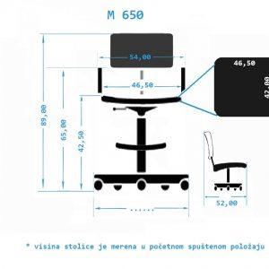 Industrijska radna stolica M650