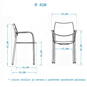 Klasična stolica M410