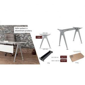 Metalne noge za kancelarijske stolove eco-3