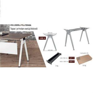 Metalne noge za kancelarijske stolove eco-4