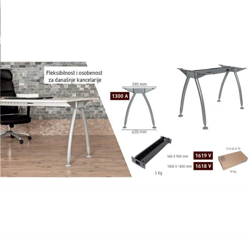 Metalne noge za kancelarijske stolove eco-5