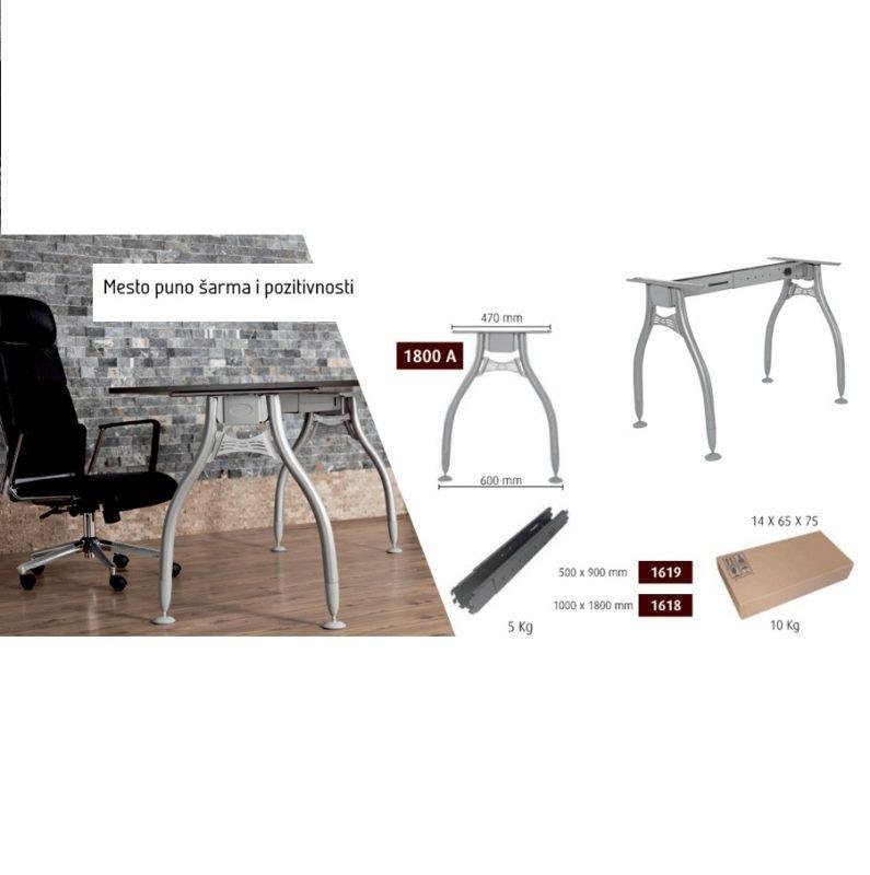 Metalne noge za kancelarijske stolove eco-6