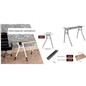 Metalne noge za kancelarijske stolove eco-7