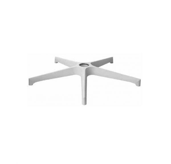 PVC zvezda za kancelarijsku stolicu bela piramidalna