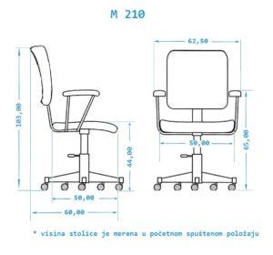 Stolica za kancelariju M210