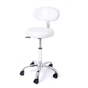 Visoka kozmetička stolica u beloj boji.