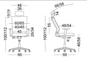 ergonomska stolica dimenzije