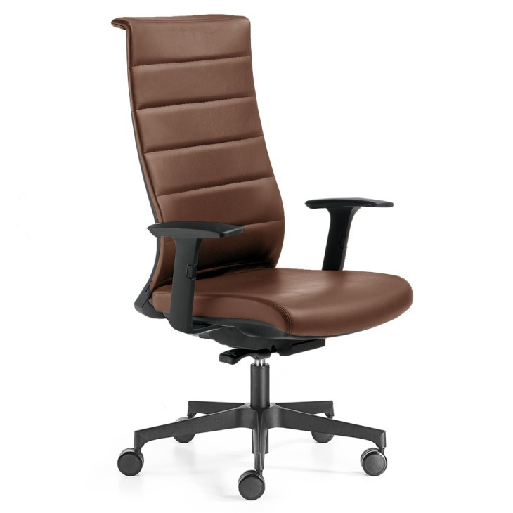 Ergonomska stolica braon boje, kožna