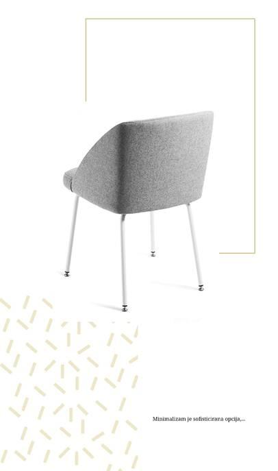 siva stolica Modrulj u minimalističkom stilu