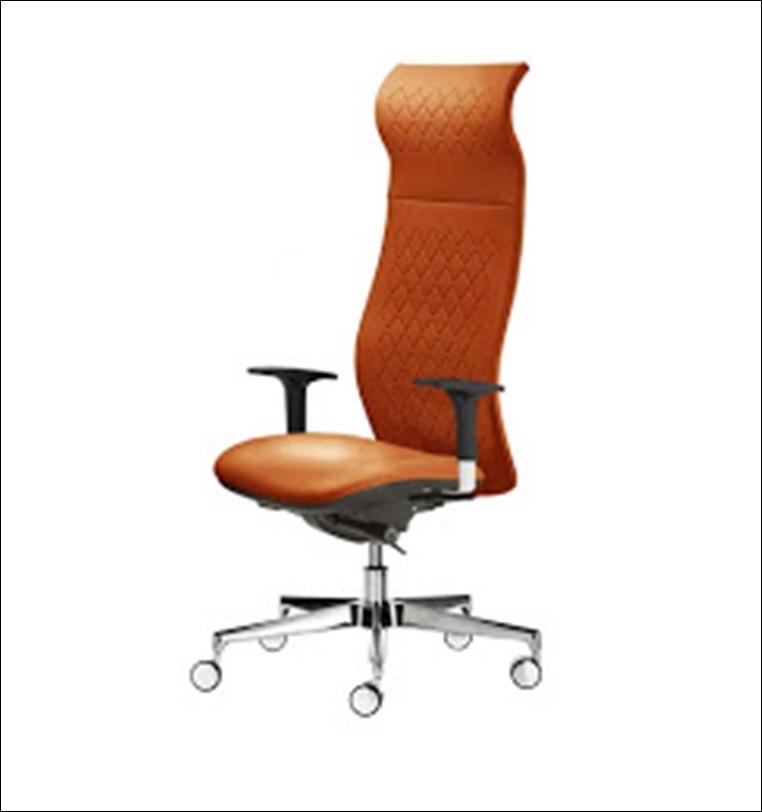 kancelarijska fotelja braon boje za kancelariju
