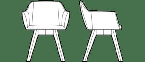 Klub/konferencijska fotelja LUP